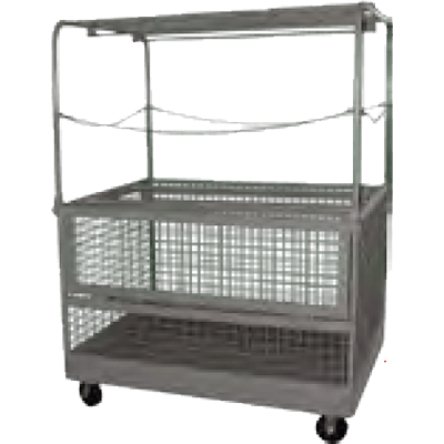Four-Rod Garment Cart